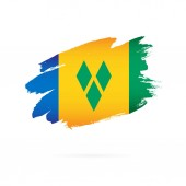 Flag of Saint Vincent and the Grenadines Vector illustration