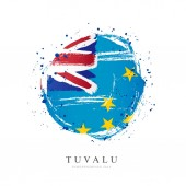 Tuvalu flag in the shape of a big circle
