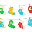 Christmas and New year holiday colorful socks with...