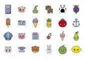 sweet and adorable kawaii set characters