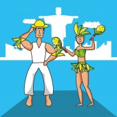 couple brazilian dancers characters