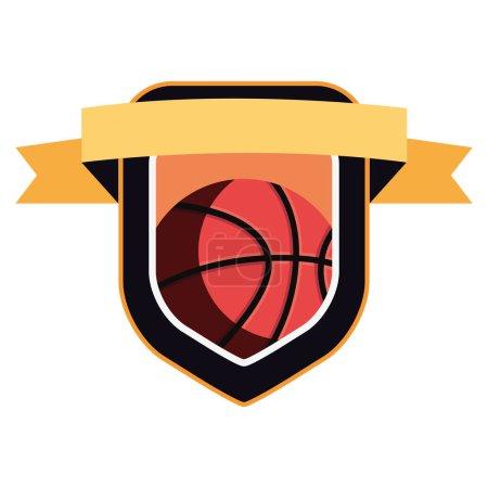 Photo for Basketball sport ball emblem badge background vector illustration - Royalty Free Image