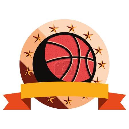 Photo for Basketball sport ball sport emblem vector illustration - Royalty Free Image