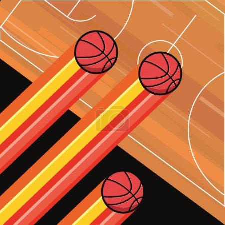 Photo for Basketball sport balls court floor vector illustration - Royalty Free Image