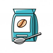 bag of coffee with spoon