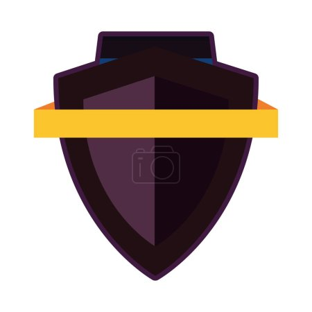 Photo for Shield ribbon banner emblem template vector illustration design - Royalty Free Image