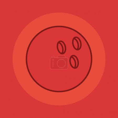 Photo for Bowling ball sport on red background vector illustration design - Royalty Free Image