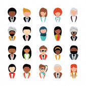 bundle with business people icons