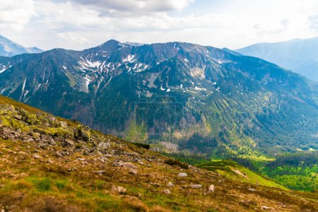 View from the top of Kasprowy Wierch mount. Tatry, Poland.