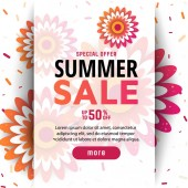 Summer sale background layout banners