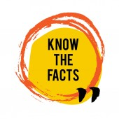 Know the facts brush stain icon Fun fact idea label Banner for