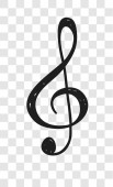 Hand drawn music note illustration Doodle set of symbols Creative ink art work Actual vector drawing