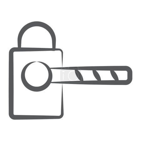 Parkschranken-Symbol im editierbaren Zeilenstil