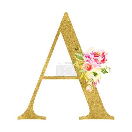 Photo pour Une lettre avec un décor floral - image libre de droit
