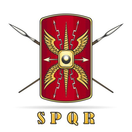 Ancient Roman Empire Warriour Shield