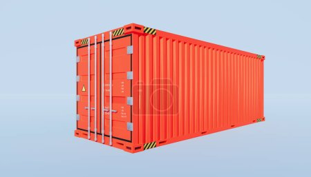 Photo for 3d rendering of cargo container and  China trade concept design. - Royalty Free Image