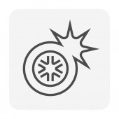 Car accident icon design 64x64 perfect pixel and editable stroke
