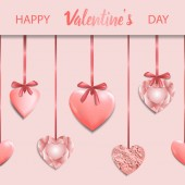 Happy Valentines Day Pink Greeting Square Card
