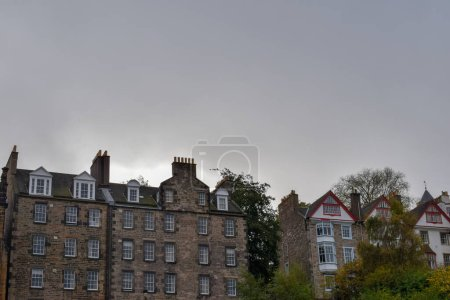 Photo for Historic buildings and a green park in Edinburgh, Scotland - Royalty Free Image