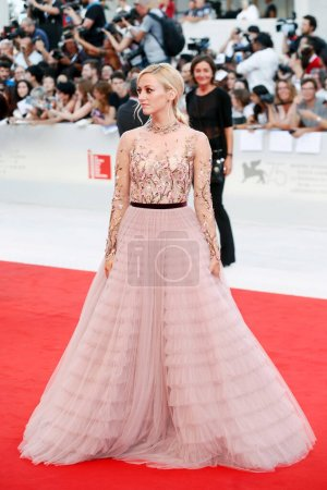 Photo for VENICE, ITALY - AUGUST 29: Olivia Hamilton attends the premiere of the movie 'First Man' during the 75th Venice Film Festival on August 29, 2018 in Venice, Italy. - Royalty Free Image