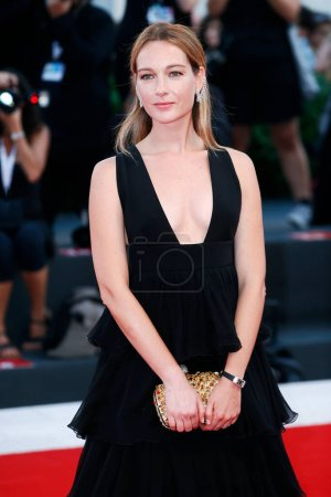 Photo for VENICE, ITALY - AUGUST 30: Cristiana Capotondi walks the red carpet of the movie 'The Favourite' during the 75th Venice Film Festival on August 30, 2018 in Venice, Italy. - Royalty Free Image