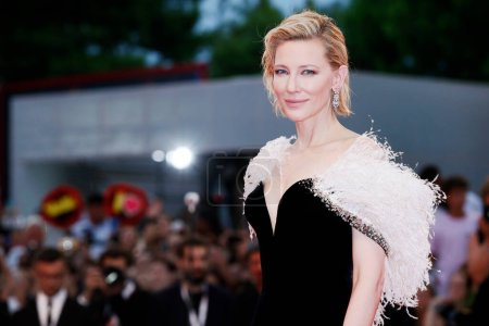 Photo for VENICE, ITALY - AUGUST 31: Cate Blanchett attends the premiere of the movie 'A Star Is Born' during the 75th Venice Film Festival on August 31, 2018 in Venice, Italy. - Royalty Free Image