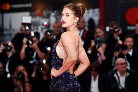 Photo for VENICE, ITALY - SEPTEMBER 01: Barbara Palvin walks the red carpet of the movie 'Suspiria' during the 75th Venice Film Festival on September 1, 2018 in Venice, Italy. - Royalty Free Image