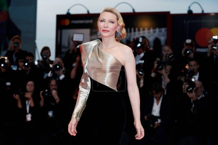 Photo for VENICE, ITALY - SEPTEMBER 01: Cate Blanchett walks the red carpet of the movie 'Suspiria' during the 75th Venice Film Festival on September 1, 2018 in Venice, Italy. - Royalty Free Image