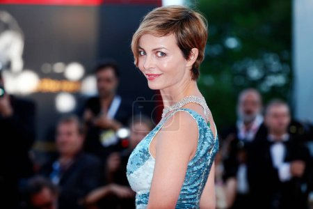 Photo for VENICE, ITALY - SEPTEMBER 04: Violante Placido walks the red carpet of the movie 'Vox Lux' during the 75th Venice Film Festival on September 4, 2018 in Venice, Italy. - Royalty Free Image