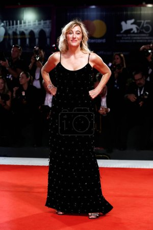 Photo for VENICE, ITALY - SEPTEMBER 05: Valeria Bruni Tedeschi walks the red carpet of the movie 'The Summer House' during the 75th Venice Film Festival on September 5, 2018 in Venice, Italy. - Royalty Free Image