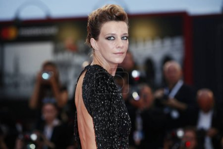 Photo for VENICE, ITALY - SEPTEMBER 07: Celine Sallette walks the red carpet of the movie 'One Nation One King' during the 75th Venice Film Festival on September 7, 2018 in Venice, Italy. - Royalty Free Image