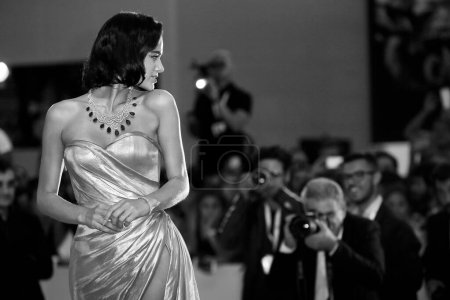 Photo for VENICE, ITALY - SEPTEMBER 02: Bruna Marquezine walks the red carpet of the movie 'The Sisters Brothers' during the 75th Venice Film Festival on September 2, 2018 in Venice, Italy - Royalty Free Image