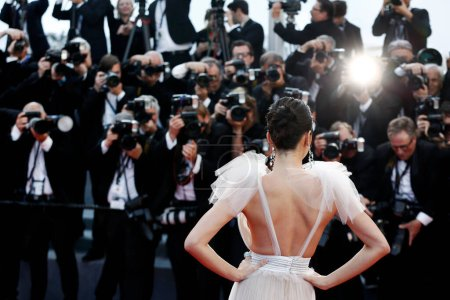 Photo for CANNES, FRANCE - MAY 12: Kendall Jenner attends the screening of 'Girls Of The Sun' during the 71st Cannes Film Festival on May 12, 2018 in Cannes, France. - Royalty Free Image