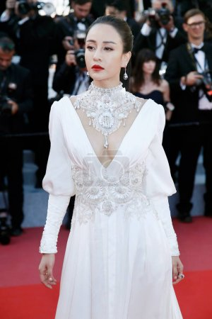 Photo for CANNES, FRANCE - MAY 11: Miya Muqi attends the screening of 'Ash Is The Purest White' during the 71st Cannes Film Festival on May 11, 2018 in Cannes, France. - Royalty Free Image