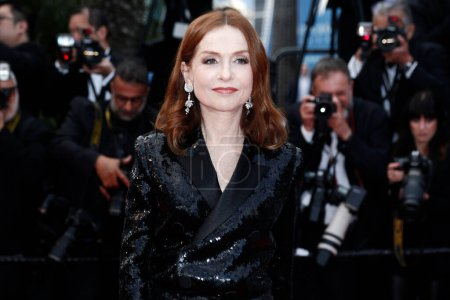 Photo for CANNES, FRANCE - MAY 13: Isabelle Huppert attends the premiere of  'Sink Or Swim' during the 71st Cannes Film Festival on May 13, 2018 in Cannes, France. - Royalty Free Image