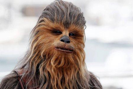 """Photo pour CANNES, FRANCE - 15 MAI : Chewbacca participe à l'appel photo de """"Solo : une histoire de Star Wars"""" lors du 71e Festival de Cannes le 15 mai 2018 à Cannes, France. - image libre de droit"""