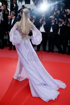 Photo for CANNES, FRANCE - MAY 14: Natasha Poly attends the screening of 'Blackkklansman' during the 71st Cannes Film Festival on May 14, 2018 in Cannes, France. - Royalty Free Image