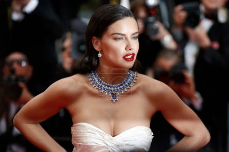 Photo for CANNES, FRANCE - MAY 16: Adriana Lima attends the screening of 'Burning' during the 71st Cannes Film Festival on May 16, 2018 in Cannes, France. - Royalty Free Image