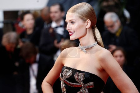 Photo for CANNES, FRANCE - MAY 16: Toni Garrn attends the screening of 'Burning' during the 71st Cannes Film Festival on May 16, 2018 in Cannes, France. - Royalty Free Image