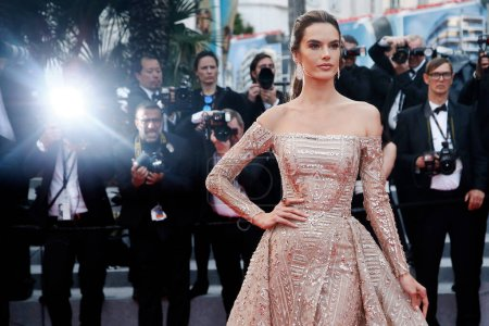 Photo for CANNES, FRANCE - MAY 18: Alessandra Ambrosio attends the screening of 'The Wild Pear Tree' during the 71st Cannes Film Festival on May 18, 2018 in Cannes, France. - Royalty Free Image