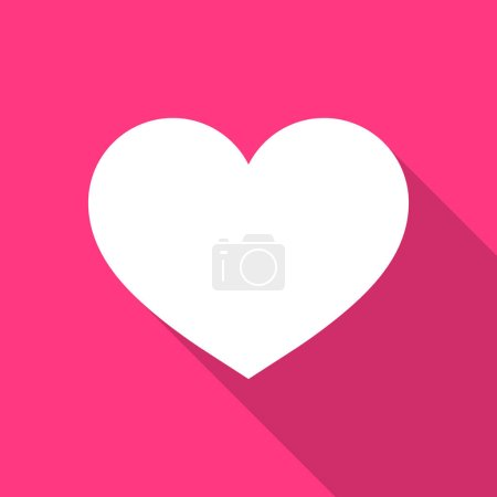 Illustration for Heart icon. Vector like and love icon. Ready like and love button for website and mobile app. - Royalty Free Image