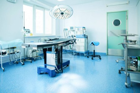 Photo for Interior of operating room in modern clinic. - Royalty Free Image