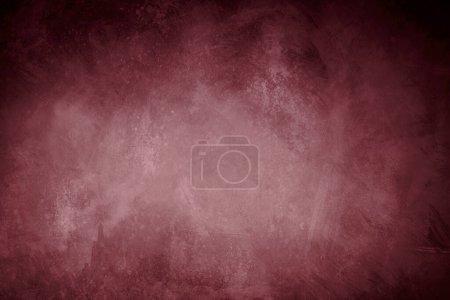 Foto de Grungy fondo rojo borgoña o textura con bordes de viñeta oscura - Imagen libre de derechos