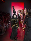 NEW YORK, NY - September 11, 2018: Violet Chachki walks the runway at the Namilia Spring Summer 2019 fashion show during New York Fashion Week