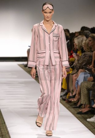 NEW YORK, NY - September 10, 2018: Magdalena Chachlica walks the runway at the Dennis Basso Spring Summer 2019 fashion show during New York Fashion Week