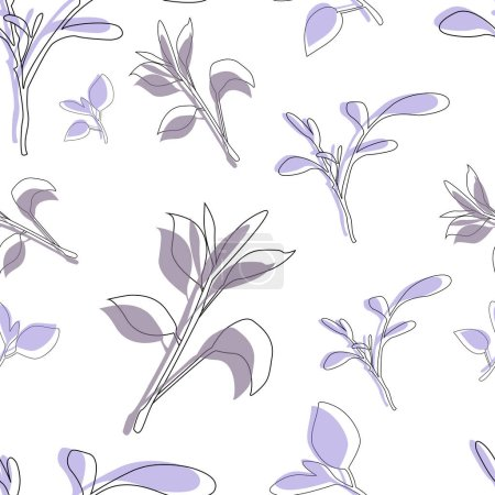 Illustration for Seamless Floral Shabby Chic Pattern - in vector. Abstract Summer Floral Print. Perfect For Fashion, Home Decor, Wallpaper. Spring or summer flowers for invitation, wedding or greeting cards. - Royalty Free Image