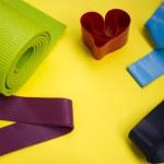 Home sports equipment. Fitness and pilates gum. Pi...