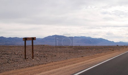 Photo for Road trip landscape with mountains, Death Valley National Park, USA - Royalty Free Image