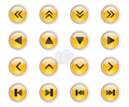 3D set of web buttons for the player and calculato...