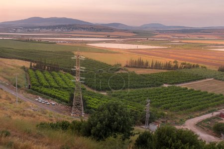 Sunset view of the eastern part of Jezreel valley....